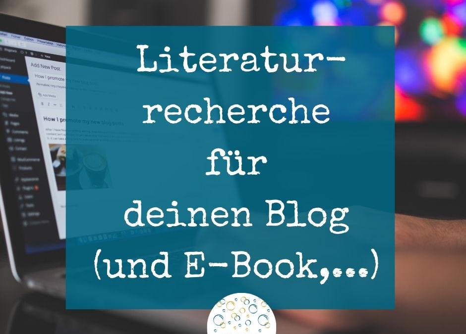 Die Literaturrecherche für deinen Blog (Gastartikel)